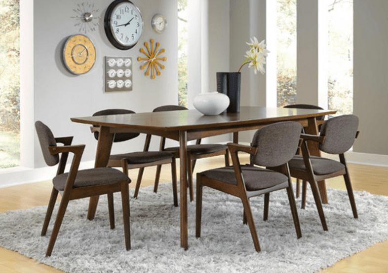 40 Beautiful Modern Mid Century Dining Room Table Ideas Dengan Gambar Set Ruang Makan Set Peralatan Makan Dekor