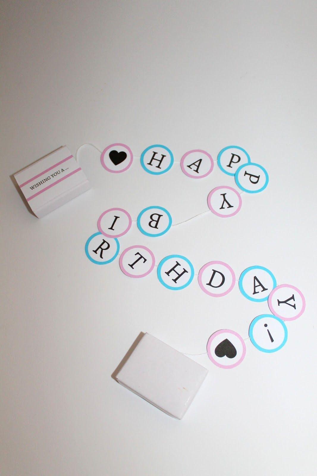 ♡ DIY süßes Geburtstagsgeschenk in einer Streichholzschachtel