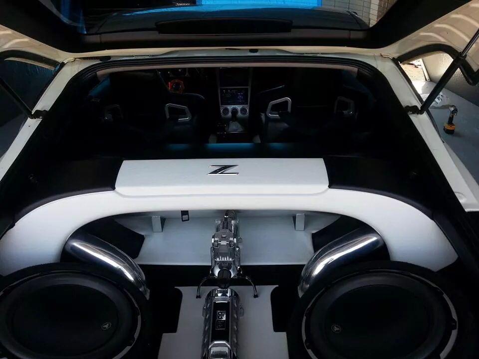 Nissan 350z Black And White Boot Interior Cars Trucks