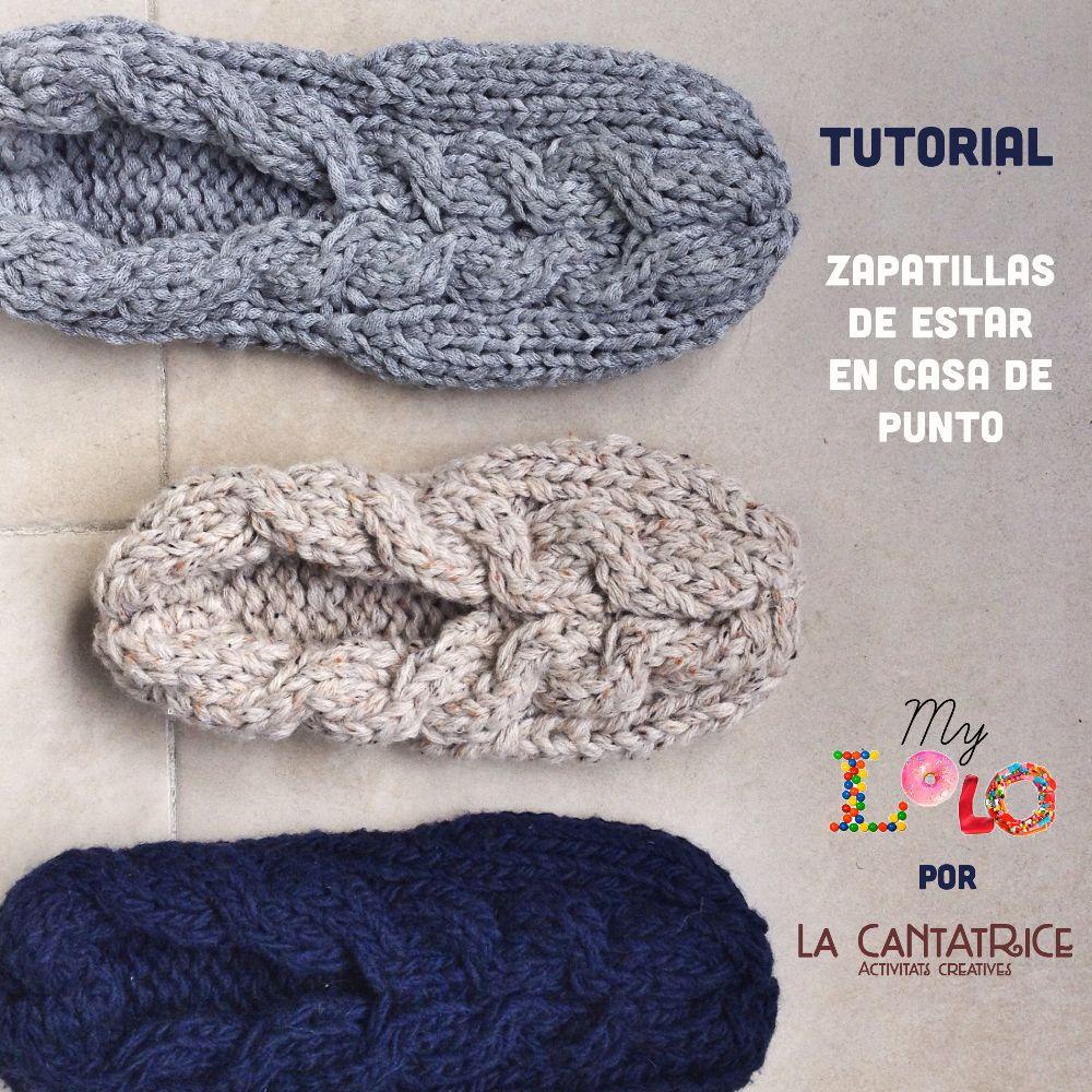 Tutorial zapatillas de puntos con patrón en 5 tallas y instrucciones ...