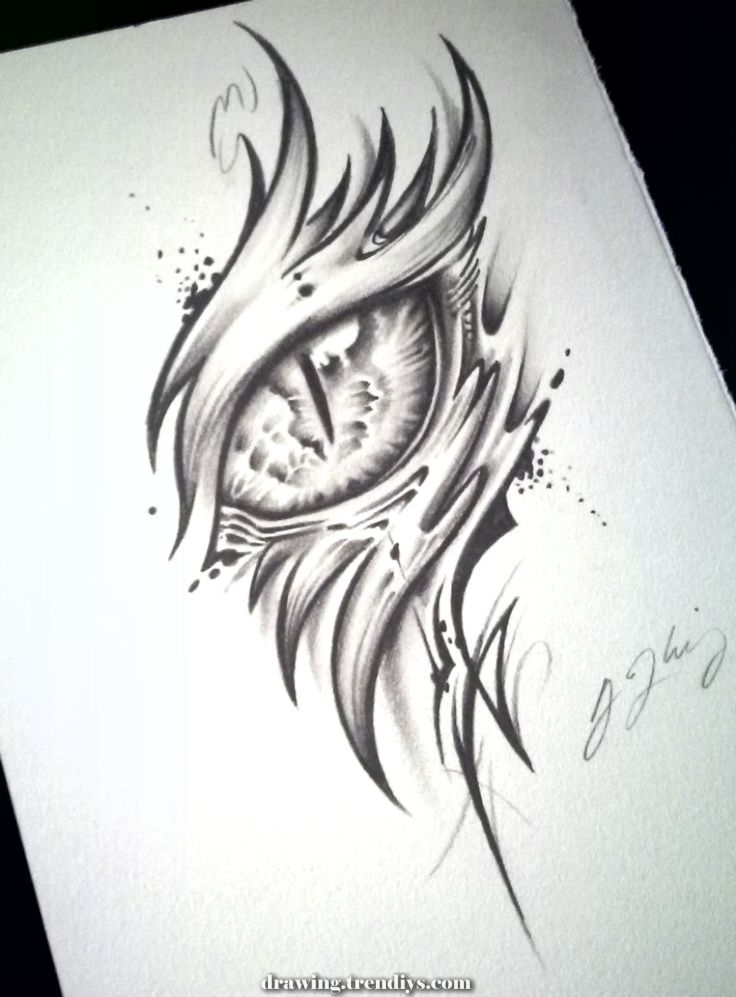 Excellent Dragon Eye Tattoo (Alpha) of J-kings-art  #alpha #dragon #kings #tattoo