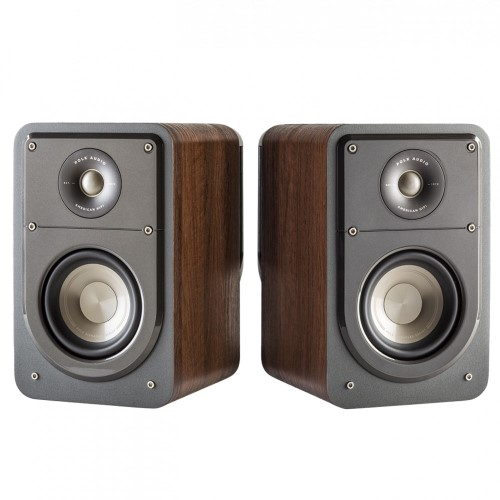 Polk Audio Signature S15 American Series Small Compact Bookshelf 2 Speaker Set Brown