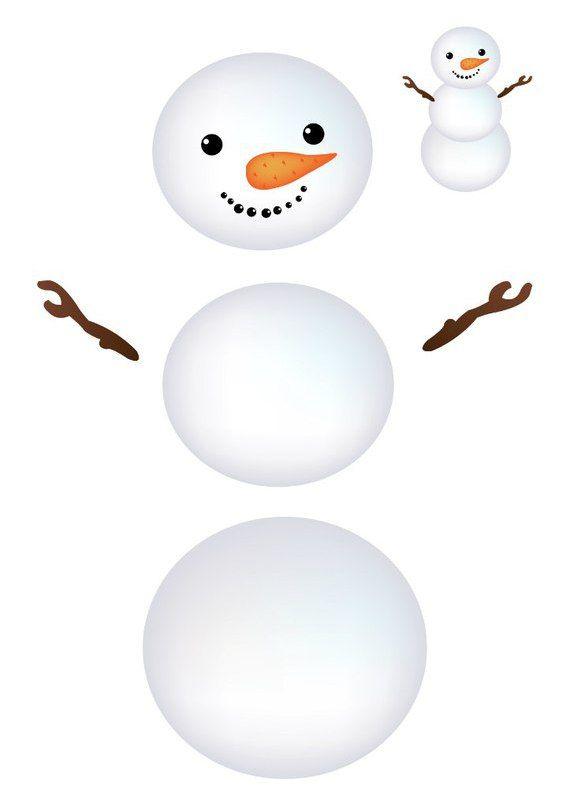 Картинка составь снеговика