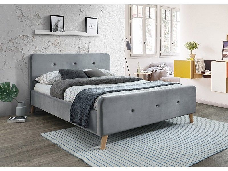 Polsterbett Doppelbett Grau Stoffbett Samt 160x200 Schlafzimmer Bett Relax In 2020 Bed Furniture Bed Frame