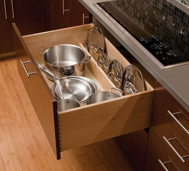 Deep Drawer Pot And Pan Drawer With Lid Storage Okay Use A Wooden Dowel