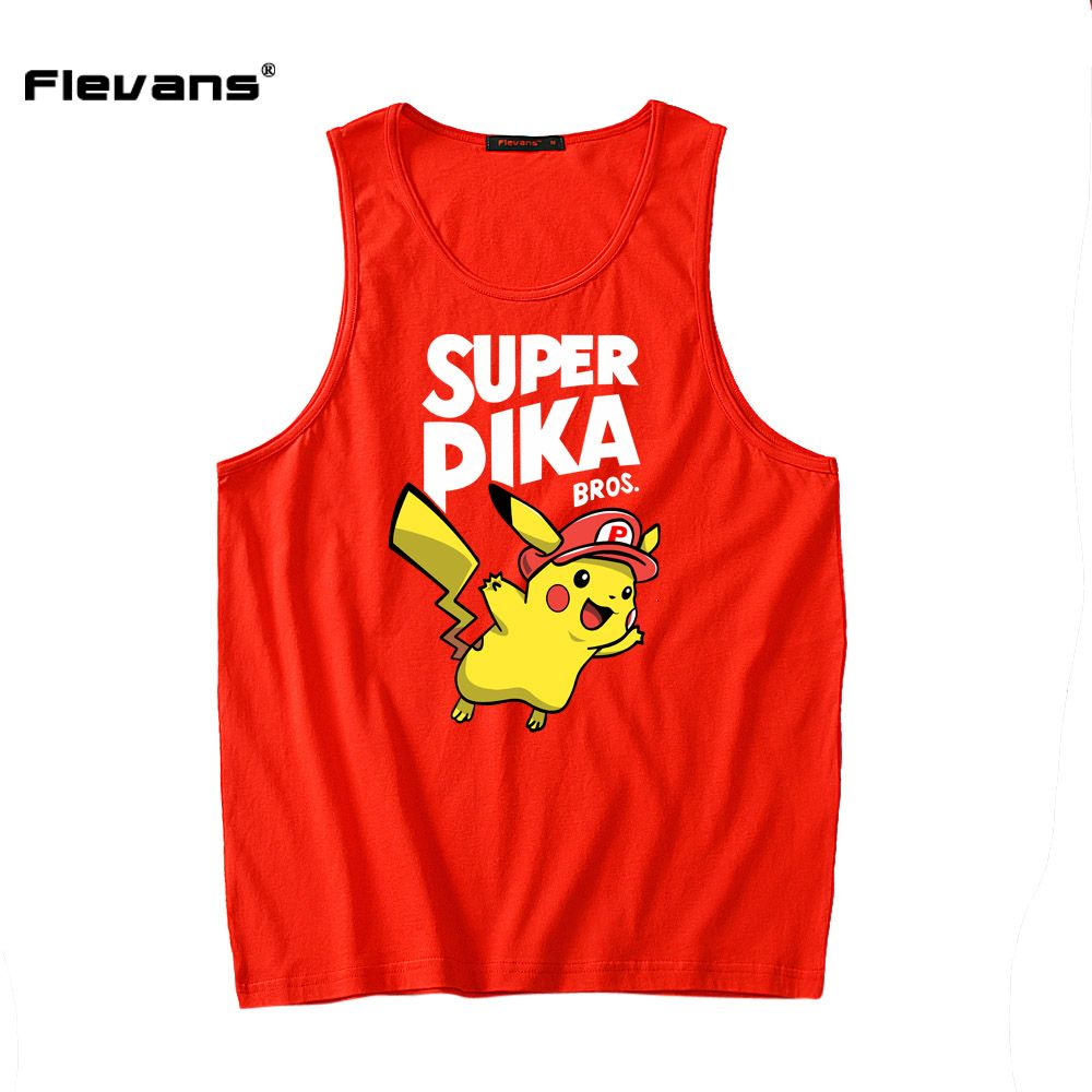 Click to buy ucuc flevans menus oneck sleeveless vest male pikachu