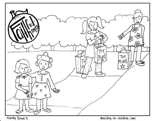 """Faithfulness """"Fruit of the Spirit"""" Coloring Page 