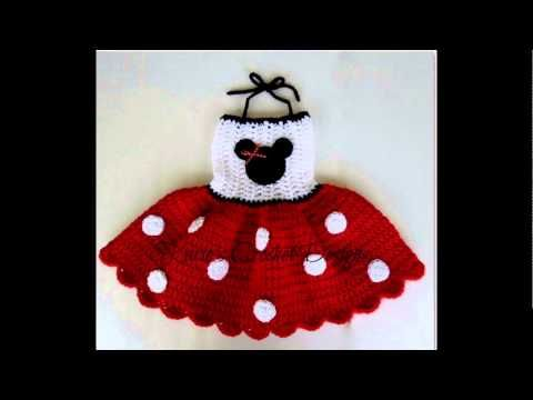 Vestido a crochet de Minnie mouse - YouTube | criança crochê | Pinterest