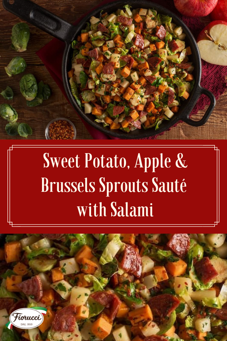sweet potato apple brussels sprout saute with italian salami instant pot dinner recipes green tomato recipes side recipes pinterest