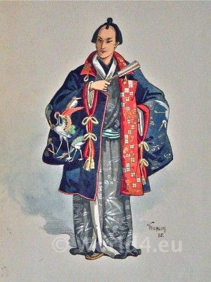 "Original John Charles Pitcher William (aka Wilhelm or C. Wilhelm) costume design for the original 1885 production of ""The Mikado"" at the Savoy Theatre. Character not identified."