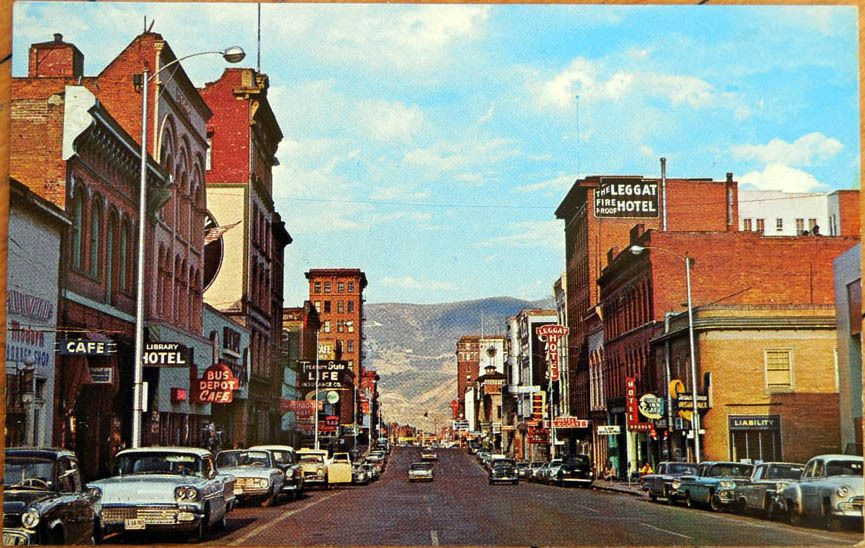 1950s Chrome Postcard: Broadway Ave/Downtown - Butte, Montana MO in Collectibles | eBay