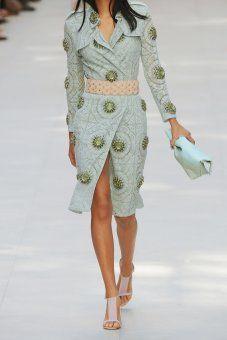 Burberry Prorsum Embellished cottonblend lace trench coat NETAPORTER.COM