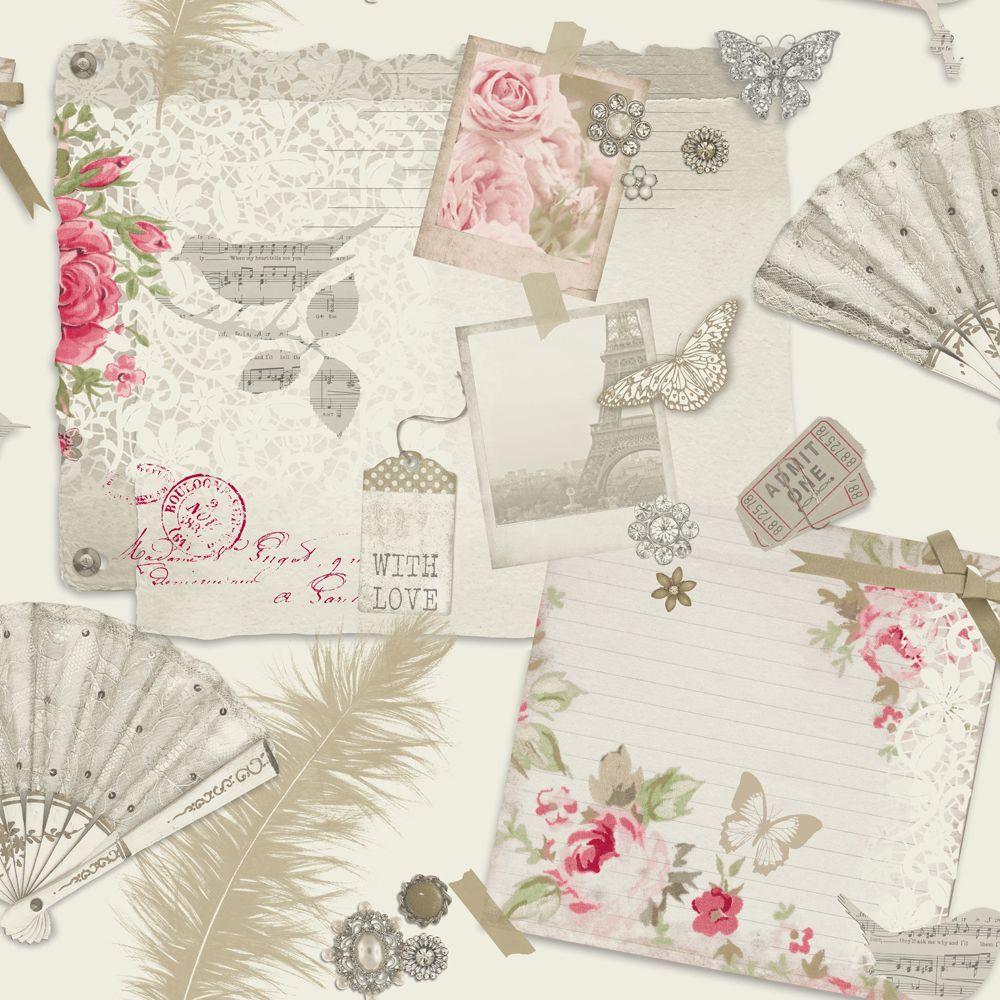 Arthouse Ava Rose And Lavender Wallpaper Main Image Veggfur