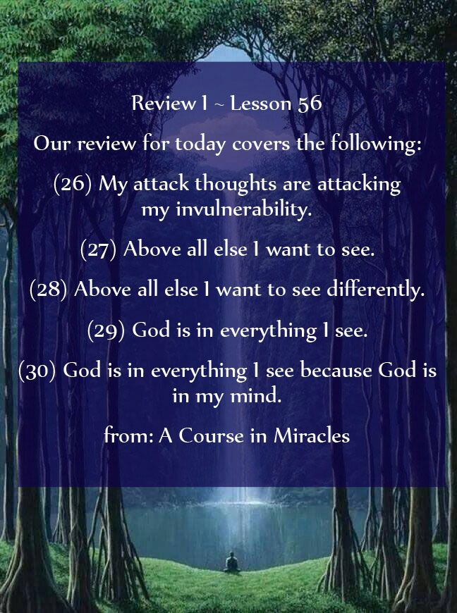 A Course In Miracles Lesson 56 Acim Https Www Facebook Com