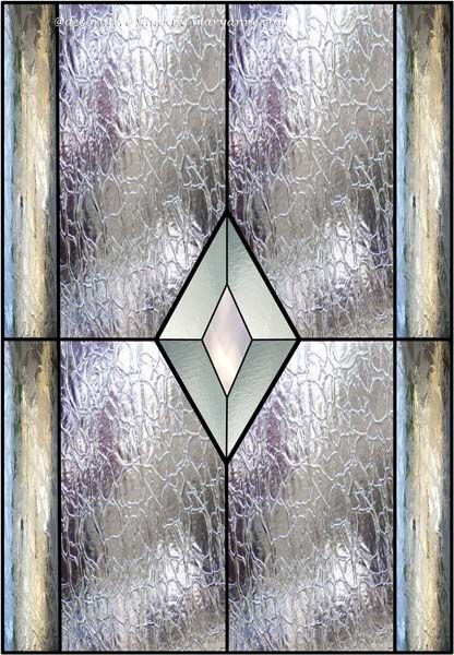 stained glass diamond window faux privacy stained glass clings and window films - Decorative Window Film Stained Glass