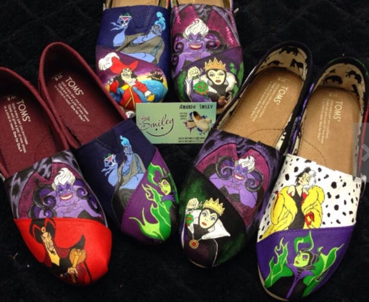 Disney painted shoes
