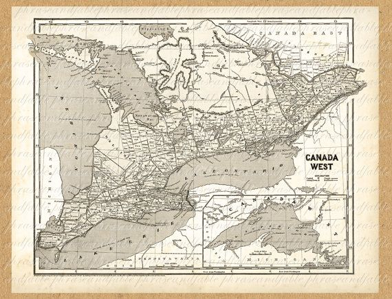 Map of southern ontario from the 1800s toronto gta to canada map of southern ontario from the 1800s toronto gta to canada vintage old map ancient printable gumiabroncs Image collections