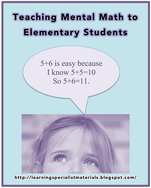 Teaching Mental Math to All Elementary Students | Mental maths, Math ...