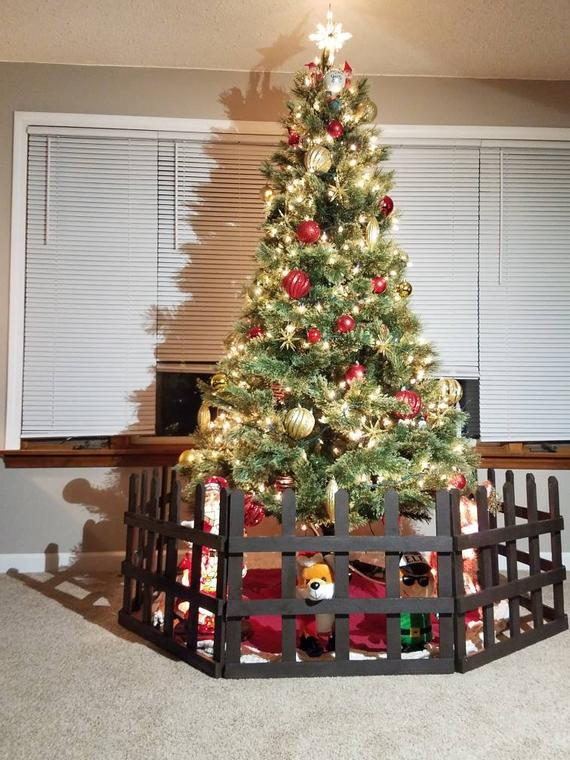 New Improved 10 Ft Rustic Wooden Indoor Outdoor Christmas Tree