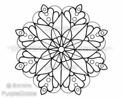 Mandala Color Page Coloring Page Printable Mandala Large JPEG File ...