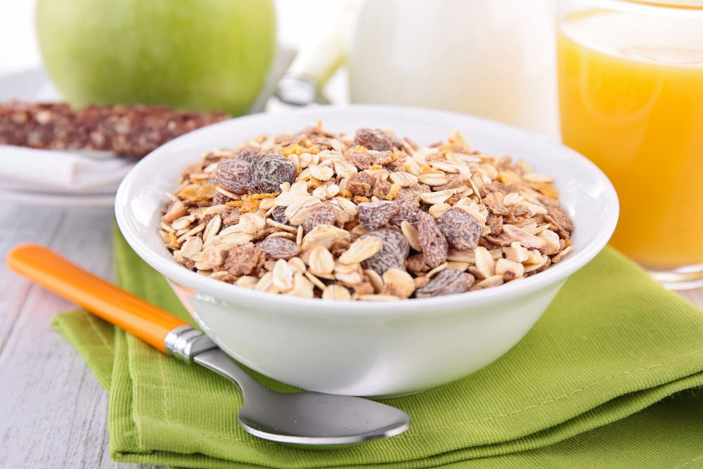 Manger des céréales le matin pendant un régime