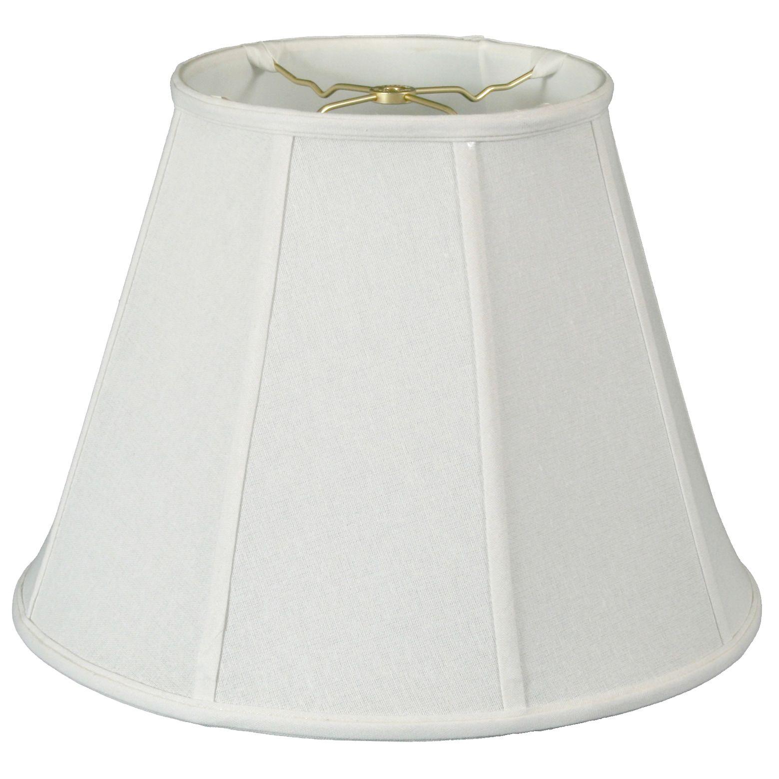 Royal Designs Deep Empire Lamp Shade, Linen White, 6 x 12