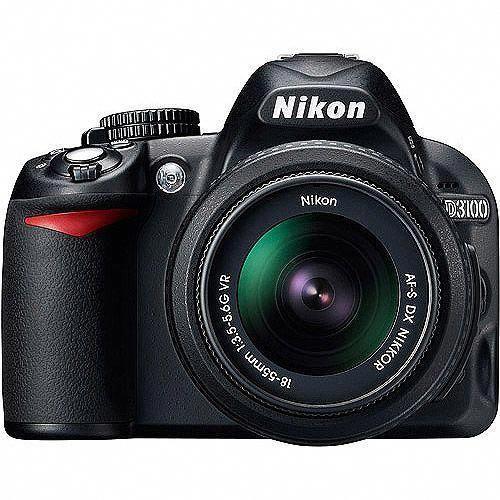 Nikon D3100 14.2MP DSLR Camera with 18-55mm VR Lens, 3