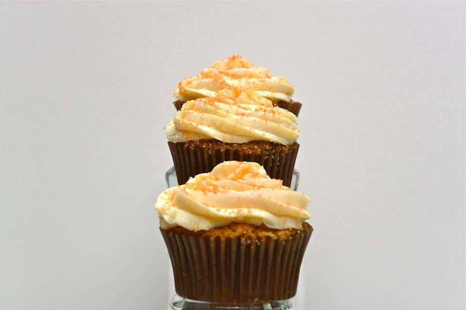 Cupcakes de zanahoria con frosting de queso crema exquisitos! No te los pierdas!
