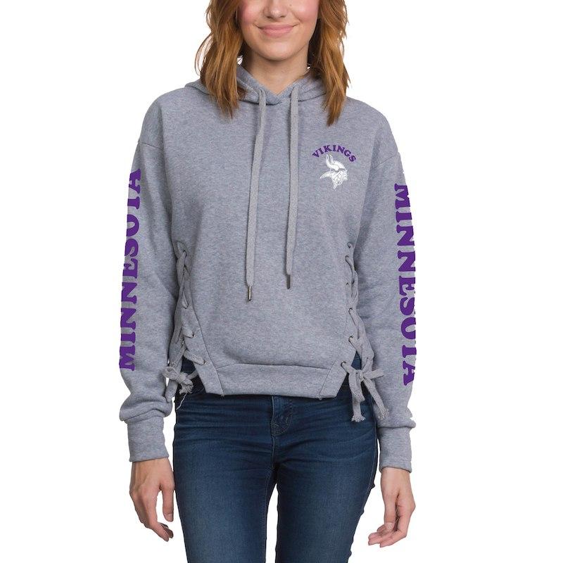 Minnesota Vikings Junk Food Women s Fashion Fleece Pullover Hoodie -  Heathered Gray 24bc23abf