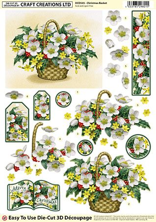 Die Cut Decoupage Sheets Single Designs 4 6 Craft Creations