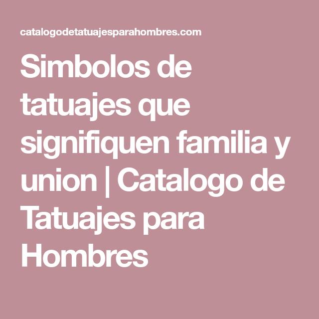 Simbolos De Tatuajes Que Signifiquen Familia Y Union Toro Pinterest