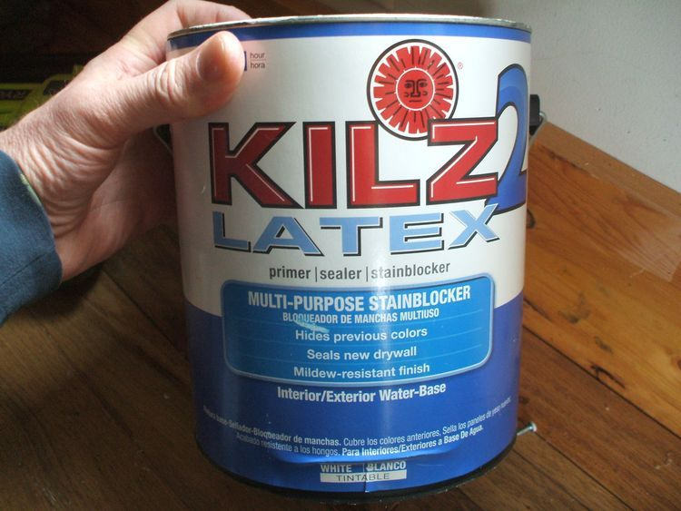 Kilz 2 Interior Exterior Multi Purpose Water Based Wall And Ceiling Primer Actual Net Contents 128 Oz At Lowe S A Fast Drying Water Paint Brands Painted Brick Walls Primer