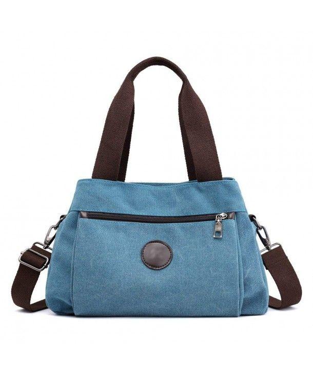 2d6bce3442de Women s Casual Totes Bag Shoulder Bag Canvas Handbags 3-open ...
