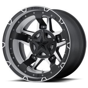 Xd Series By Kmc Xd827 Rs3 5 Matte Black Machined Wheel Rims Black Wheels Wheel