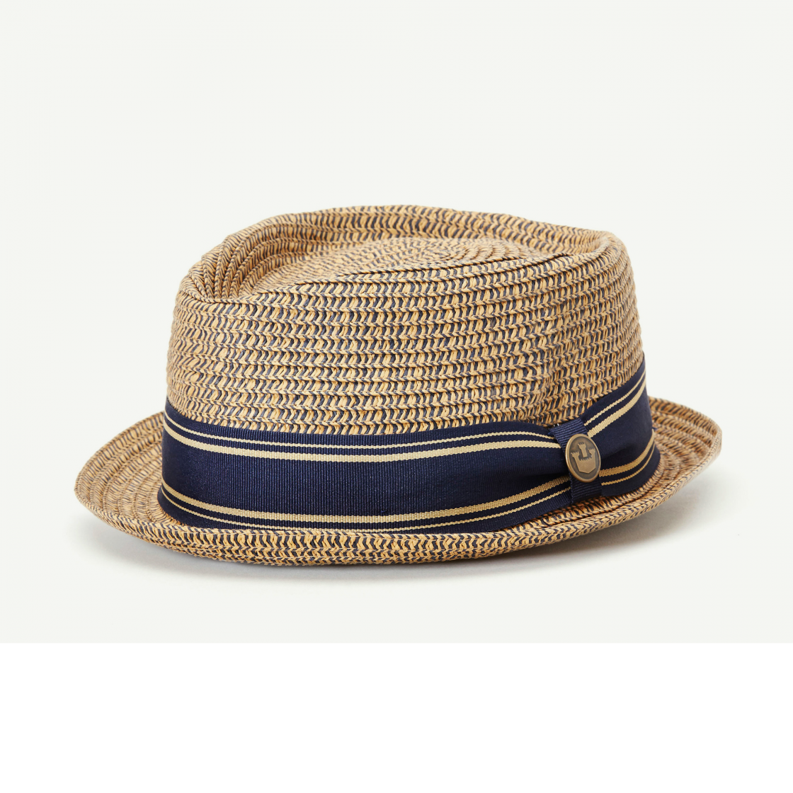 Big Boy Kris Tan Straw Porkpie Fedora hat front view e81d16b9c5ca