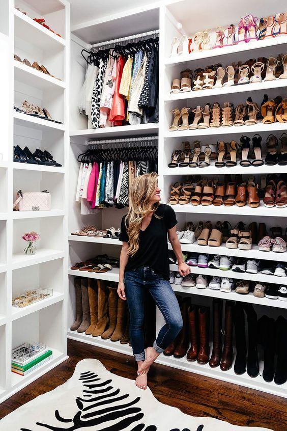 Closets zapateros te van a encantar closet de tablaroca for Muebles para zapatos moderno