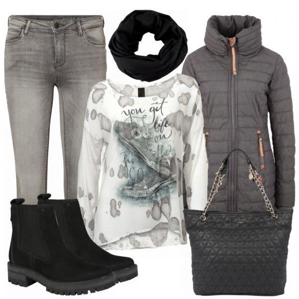 night Damen Outfit Komplettes HerbstOutfit günstig