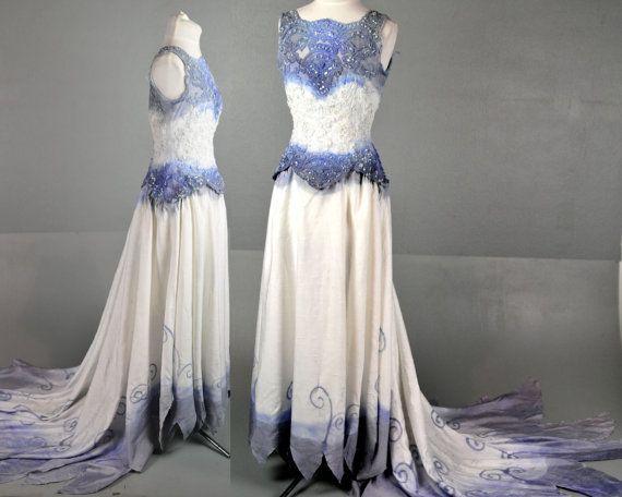 Corpse Bride Wedding Gown: SALE! Corpse Bride Dress Gown Halloween Wedding Zombie