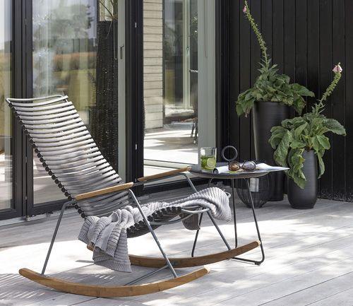 Click Schaukelstuhl Von Houe Im Ikarus Design Shop Schaukelstuhl Garten Schaukelstuhl Outdoor Stuhl