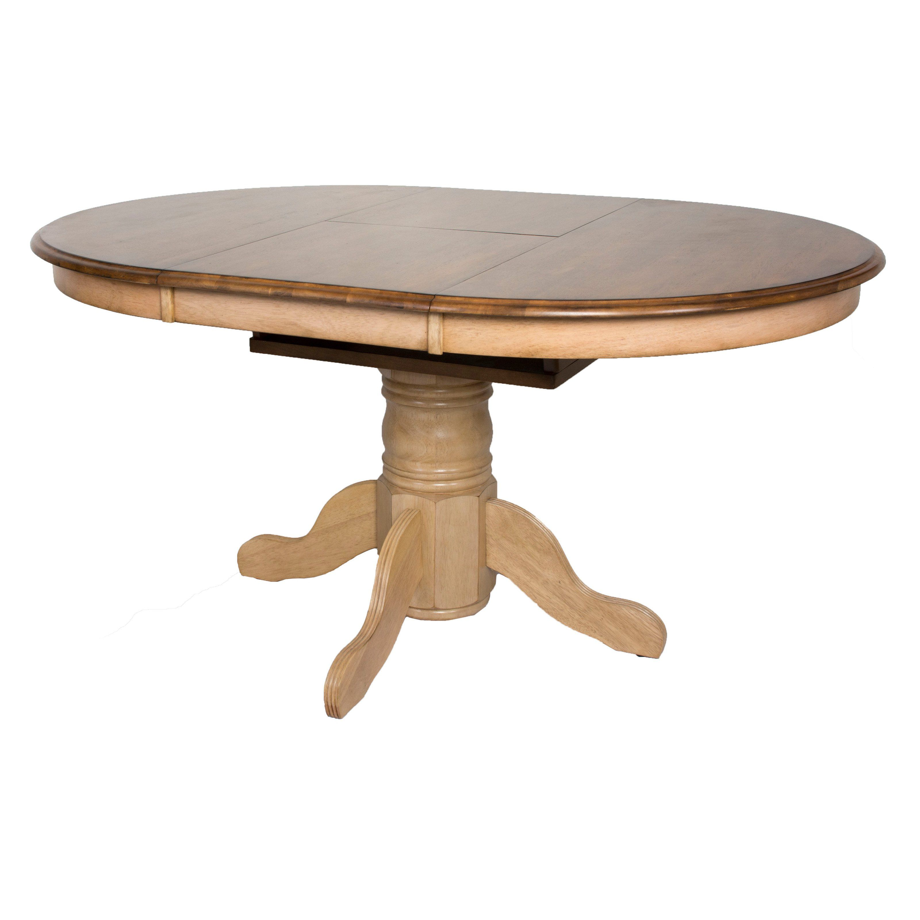 Sunset Trading Brook Round Or Oval Extension Dining Table Dining
