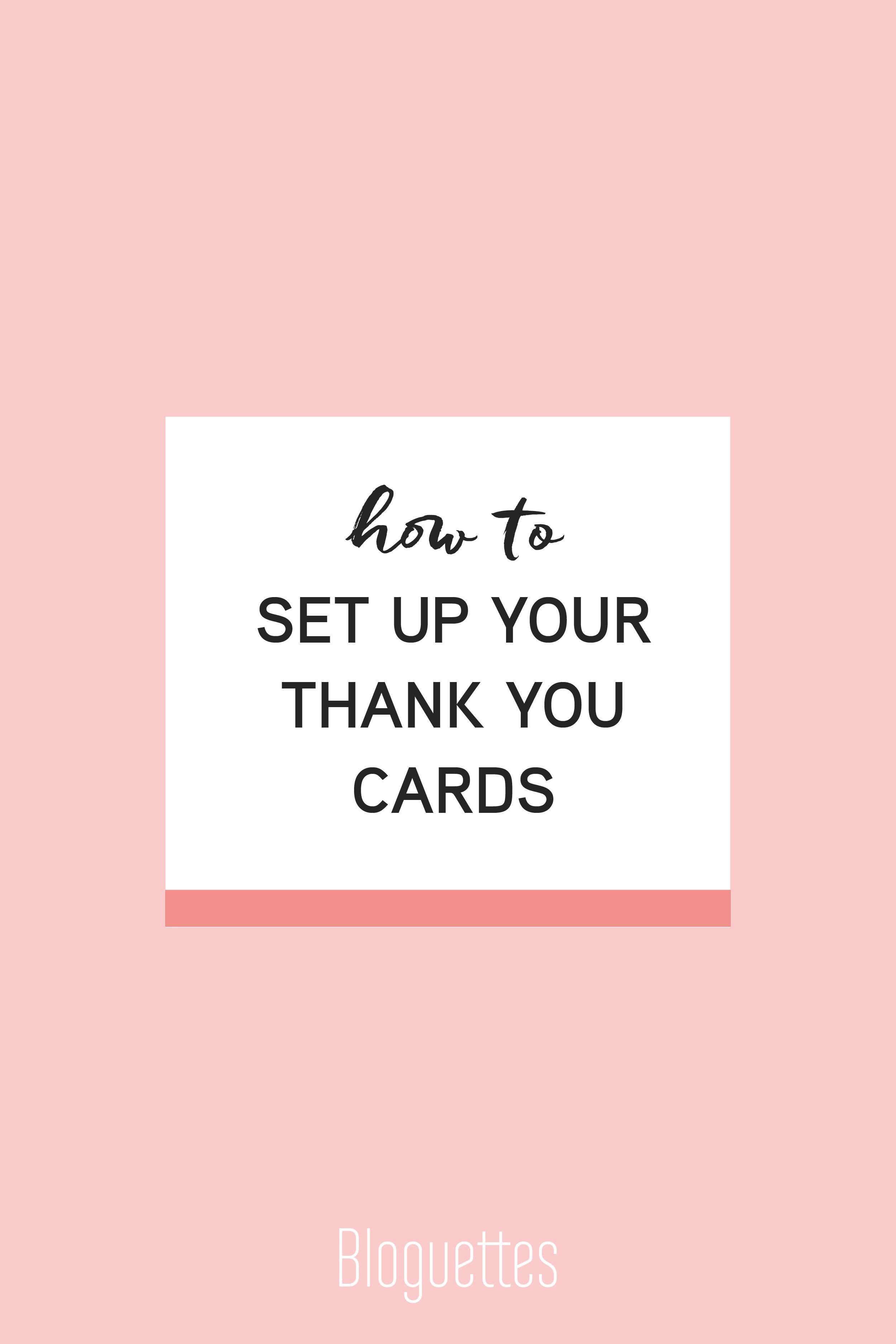 How To Step Up Your Thank You Cards  Blogging Career Advice And
