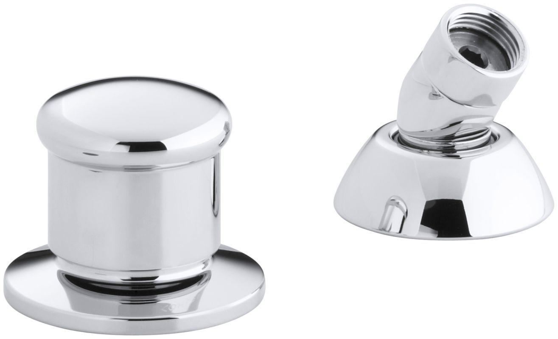 Kohler K-8549 Alterna Deck Mount Diverter and Handshower guide Polished Chrome Showers Diverter Trims Single Handle