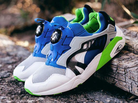 Puma Disc Blaze - White - Snorkel Blue - Green Flash - SneakerNews.com