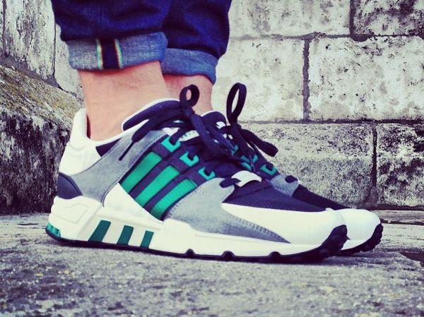 Adidas equipo negro / verde zapatilla Freakente fiebre