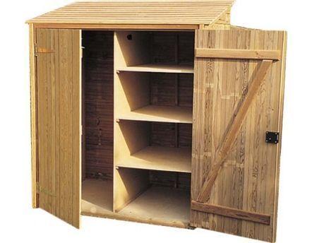 Armoire de jardin en pin 3 étagères Krol | Armoire de jardin, Armoire de rangement exterieur ...