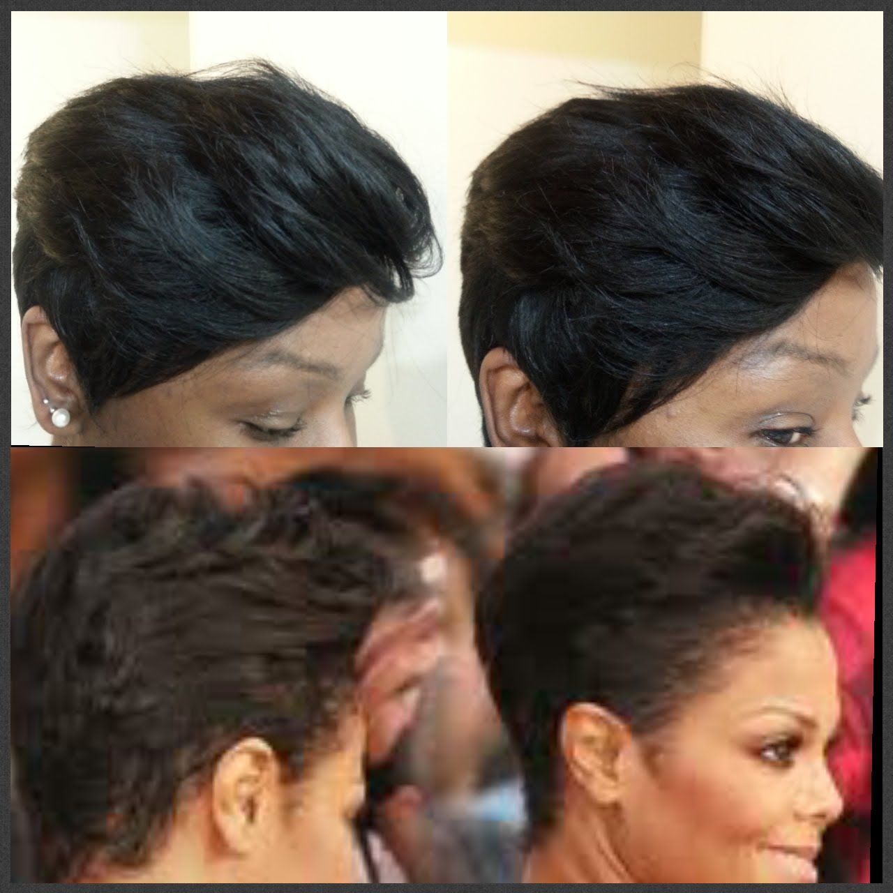 How To Janet Jackson Inspired Quick Weave 27 Pieces Short Hair
