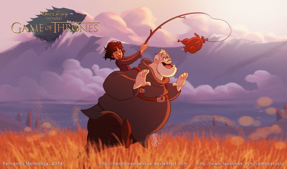 If Game Of Thrones Was A Disney Animated Movie Bran And Hodor