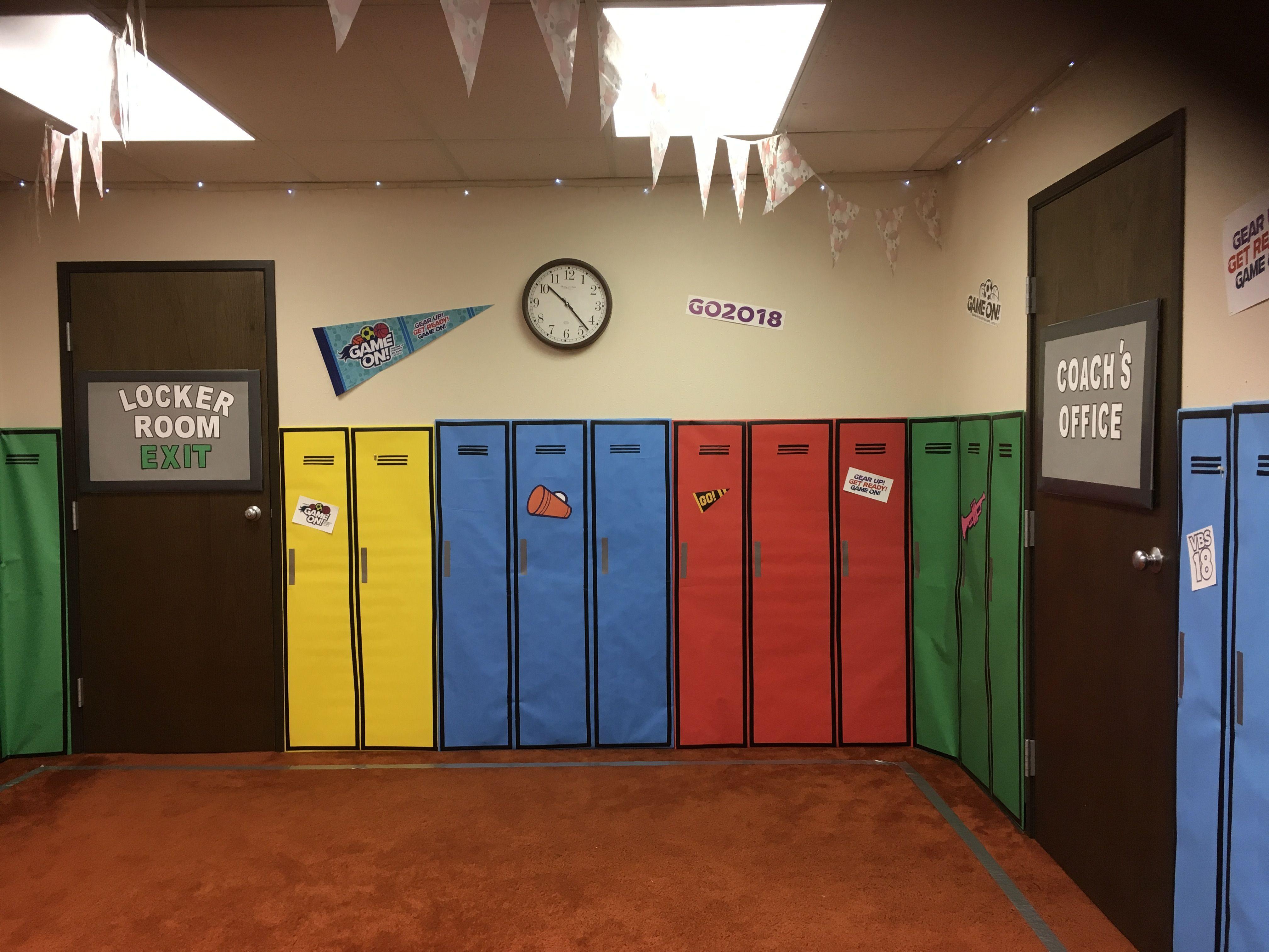 VBS Game On Locker Room | VBS 9 | Pinterest | Games, Sunday ...