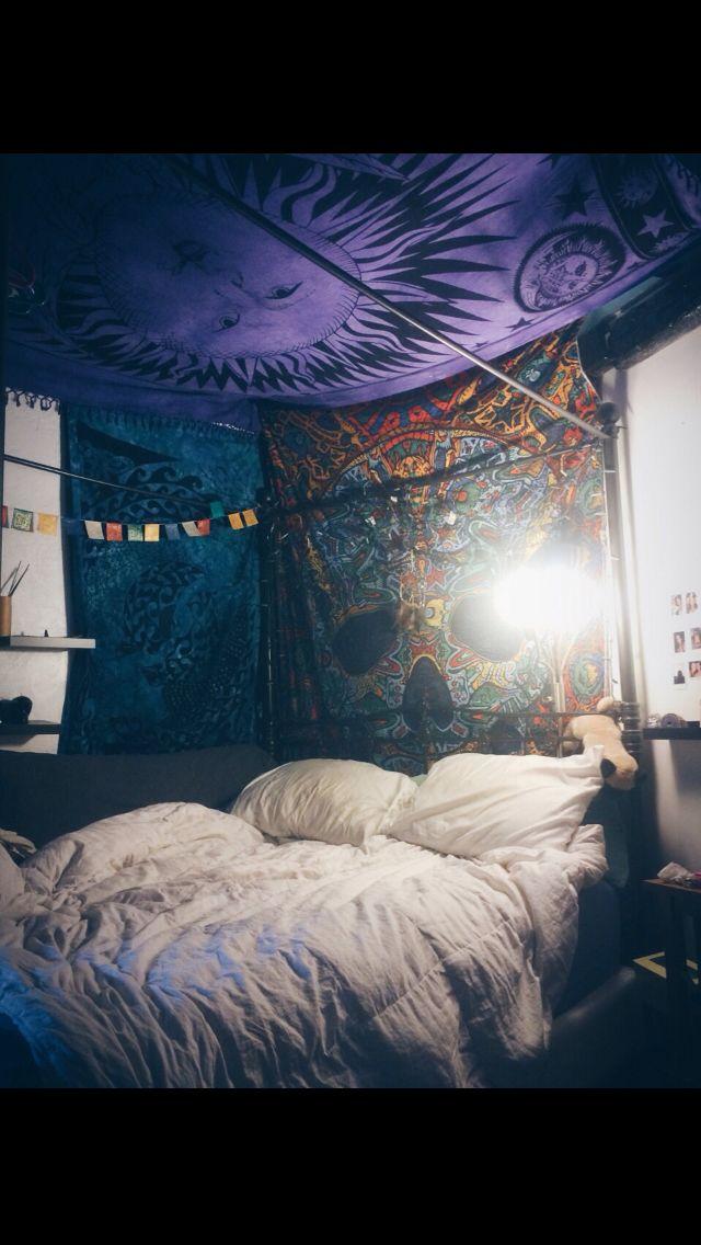 Tapestry Boho Grunge Bedroom Hippy Bedroom Bohemian