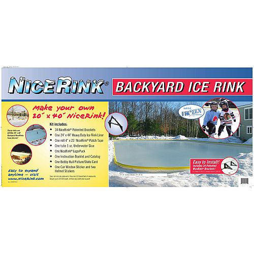 NiceRink 20' X 40' Backyard Ice Rink Kit